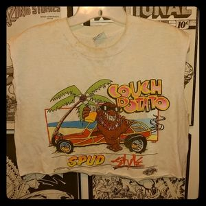 Vintage 80s Couch Potato Spud Style Shirt